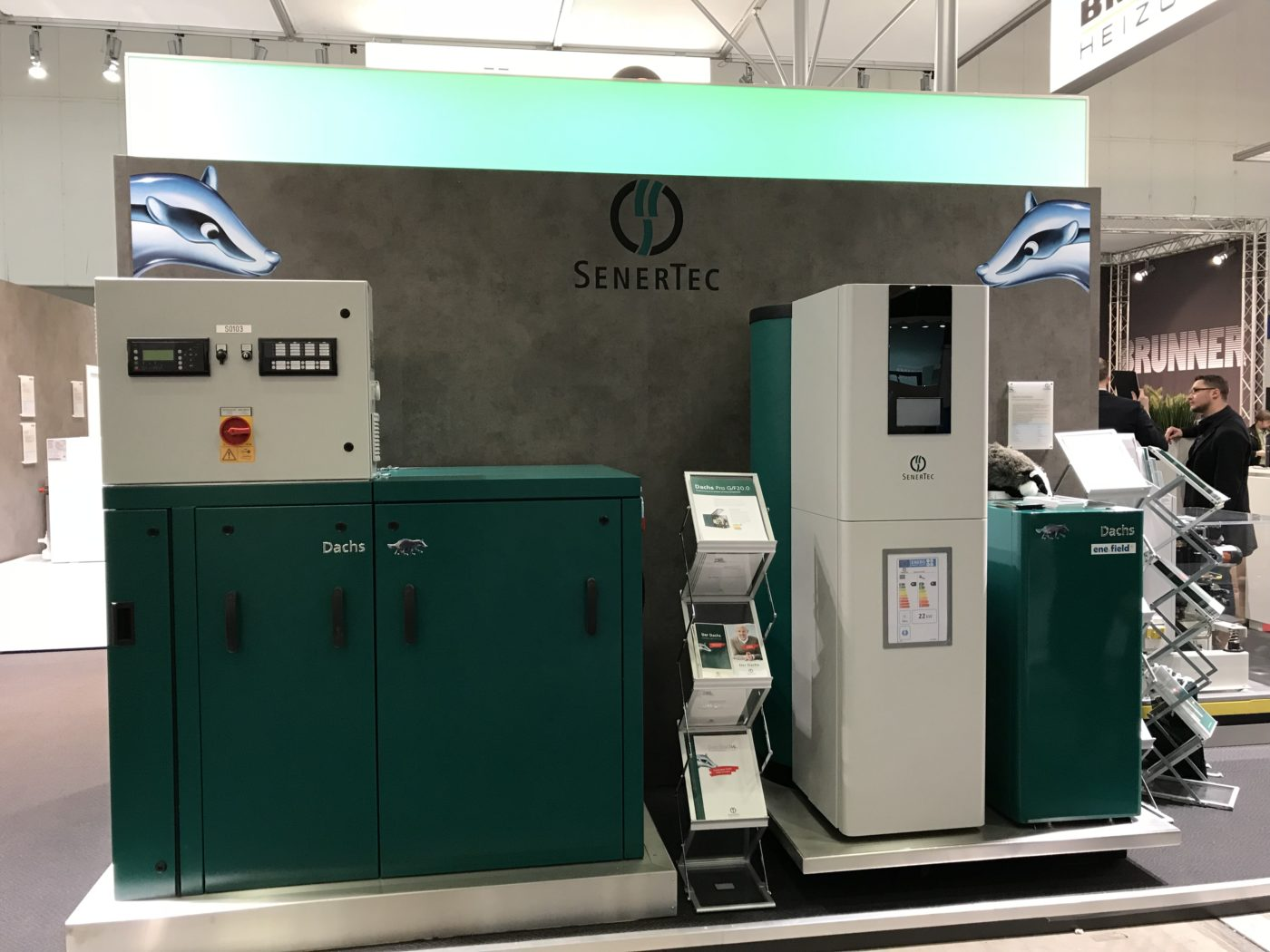 Messestand des SenerTec Center Berlin-Brandenburg auf der bautec 2018